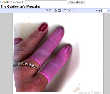 finger shown in Google book