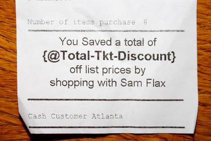 You Saved a total of {@Total-Tkt-Discount} off list prices.